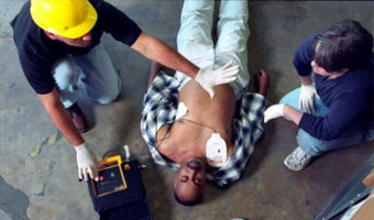 AED defibrillator training course